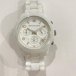 White Ceramic Michael Kors Women's Watch